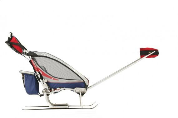 Lyžařský set pro dětský vozík Chariot